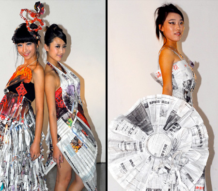 Newspaper Dresses