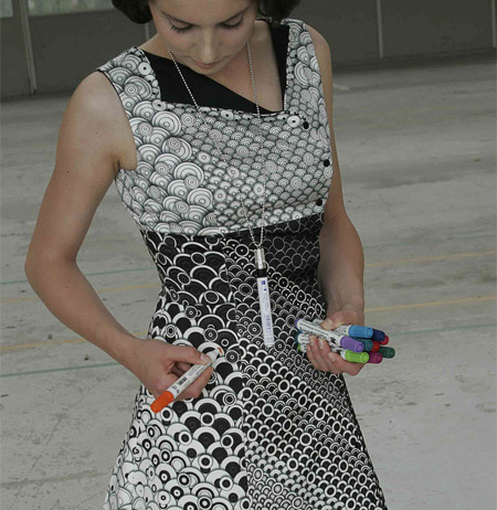 Colour-In Dress