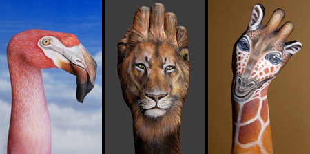 Animal Hand Paintings