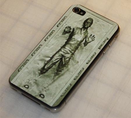 Han Solo Carbonite iPhone Sticker
