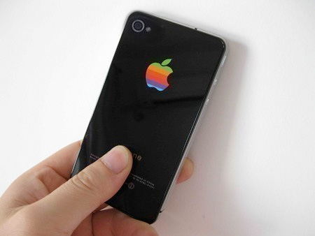 Rainbow Apple Logo iPhone Sticker