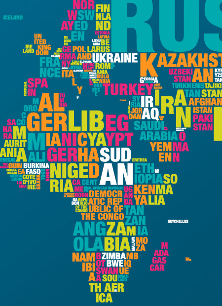 Letter Country Names Of The World