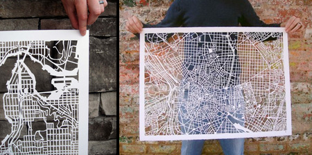 Amazing Hand Cut Map Art