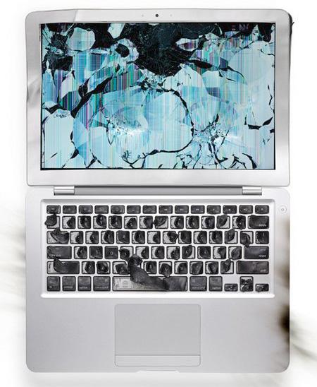 Destroyed MacBook