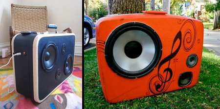 Suitcases Turned Into Speakers