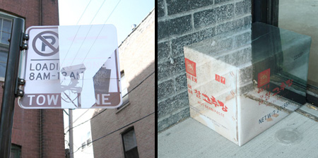 Camouflaged Boxes and Signs