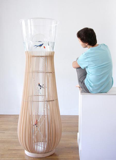 Bird Cage Aquarium Concept