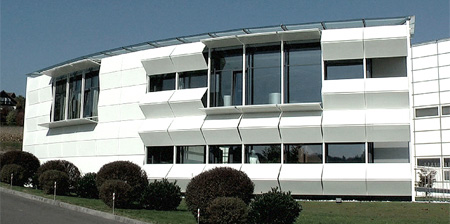 Modern Building with Dynamic Facade