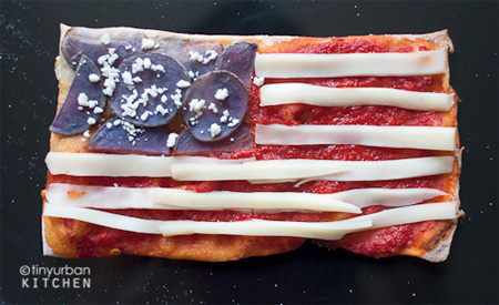 USA Flag Pizza