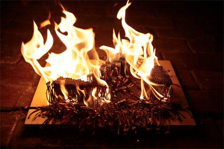 Sneakers on Fire