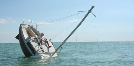 Sinking Boat Sculpture