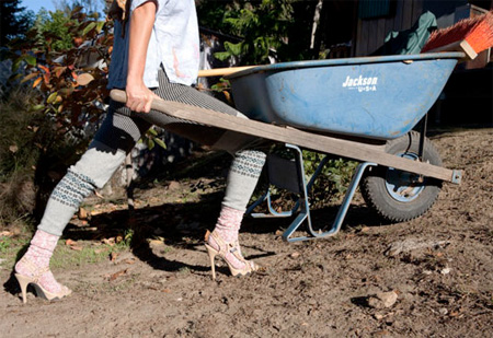 Gardening in High Heel Shoes