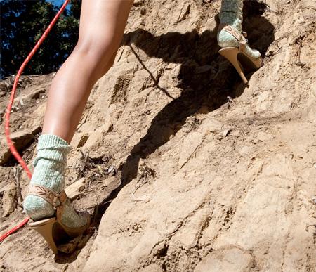 Climbing in Stilettos