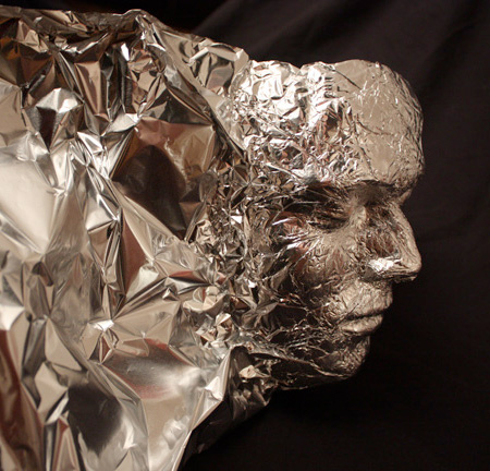 Tin foil portrait for 3d art sculpture ideas