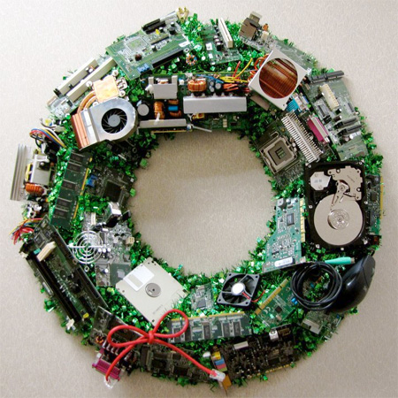 Image result for tech christmas wreath