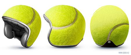 Tennis Ball Helmet