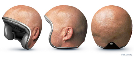 Bald Head Helmet