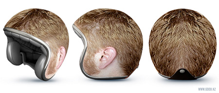 Male Head Helmet