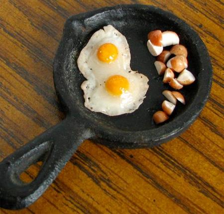 Fried Eggs and Cut Potatoes
