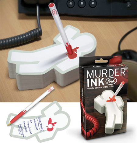 Murder Ink Sticky Notes