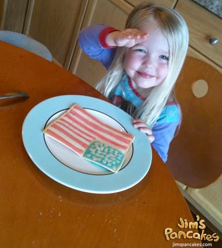 American Flag Pancakes