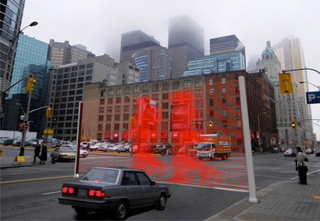 Projected Traffic Light