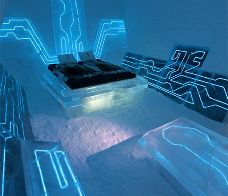 Tron inspired products and designs for Cool hotel designs