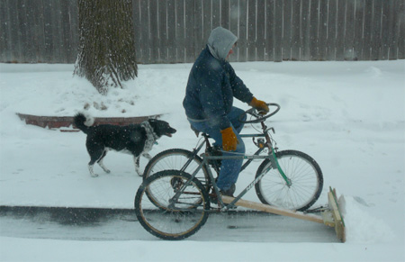 Snow Plow Bike