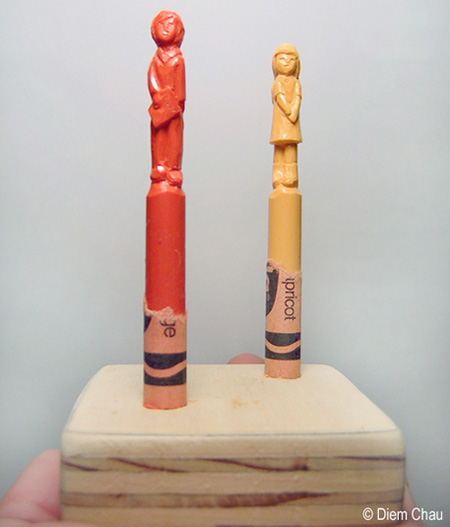 Boy and Girl Crayons