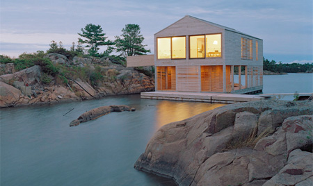 Floating Home at Night