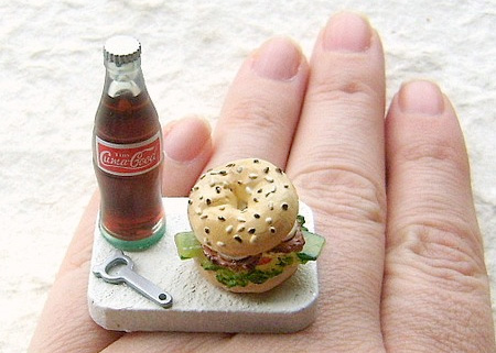 Coca Cola and Bagel Sandwich Ring