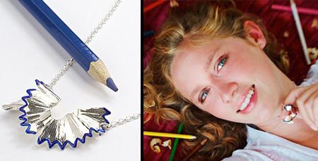 Pencil Shaving Necklace