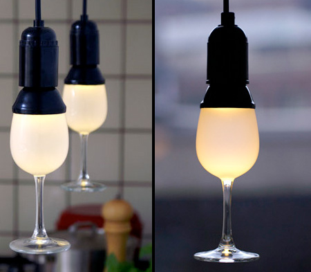 Wine Glass Lamp