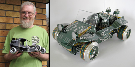 Cans Transformed Into Cars