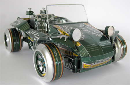 Recycled Can Car