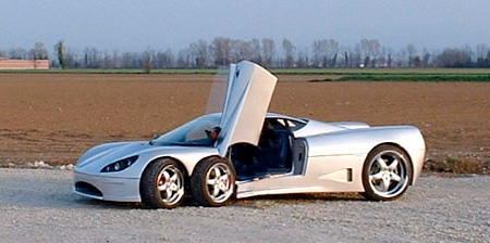 Six Wheeled Sports Car