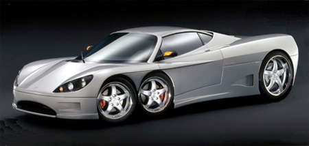 Six Wheeled Supercar