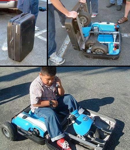 Suitcase Go Kart
