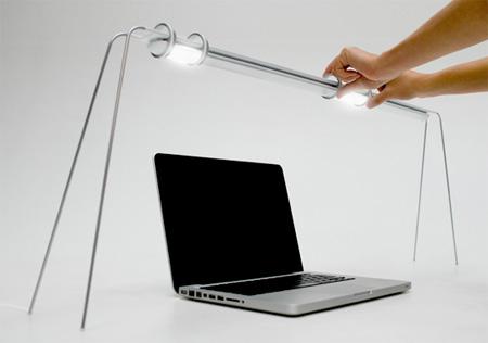Lamp with Sliding LEDs