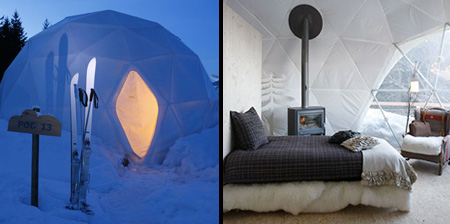 Igloo Resort in Switzerland