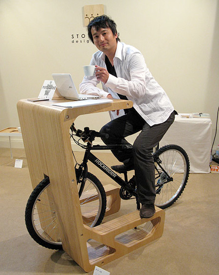 Pit In Bicycle Desk