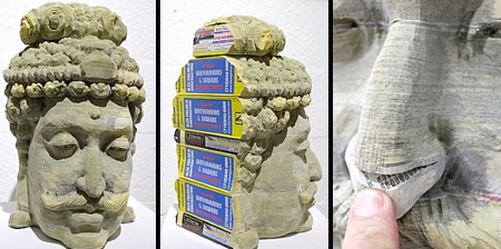 Phone Book Sculptures