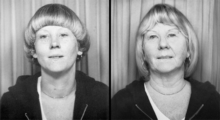 Sue in 1977 and 2010