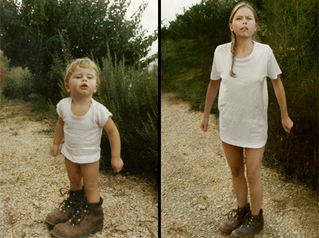 Cecile in 1987 and 2010