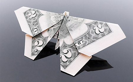 dollar bill origami butterfly. Dollar Bill Butterfly