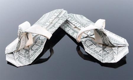 Dollar Bill Flip Flops