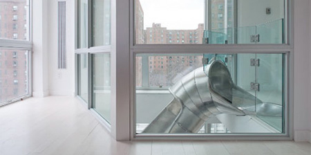 Apartment with a Slide