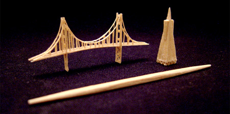 Toothpick Sculptures
