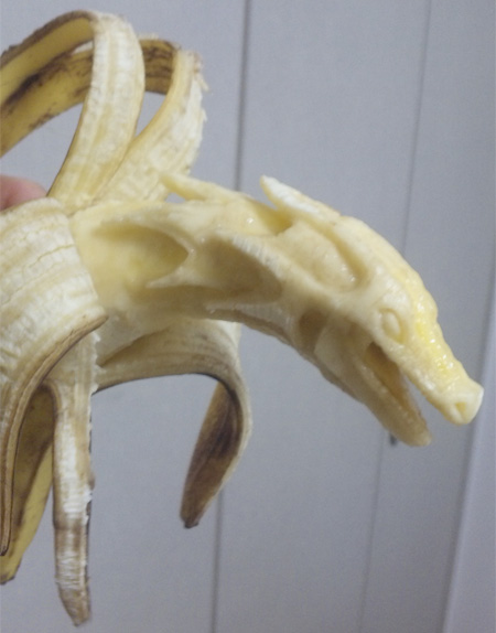 Scary Banana Carving