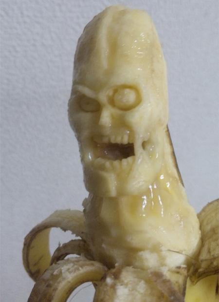Scary Banana Art